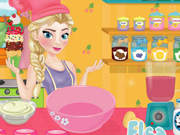 Elsa Cooking Ice Cream