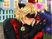 Miraculous Ladybug and Cat Noir Kiss